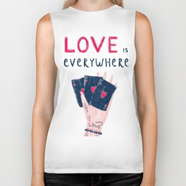 Love is everywhere Biker Tank