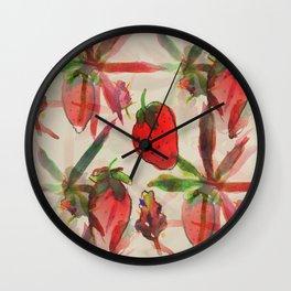 Strawberry Kush  Wall Clock