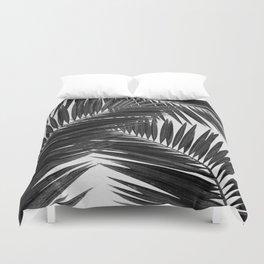 Palm Leaf Black & White III Duvet Cover