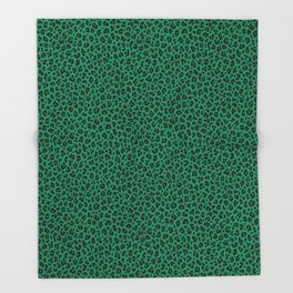 LEOPARD PRINT in GREEN | Collection : Leopard spots – Punk Rock Animal Print Throw Blanket