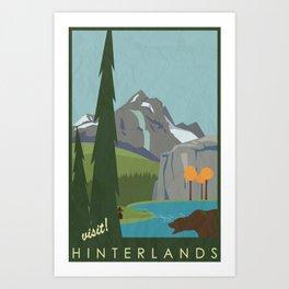 Dragon Age - Hinterlands Travel Poster Art Print