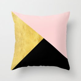 Color Bloc Triangles Throw Pillow