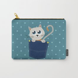 Cat In A Pocket Carry-All Pouch