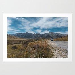Summer road trip // New Zealand Art Print