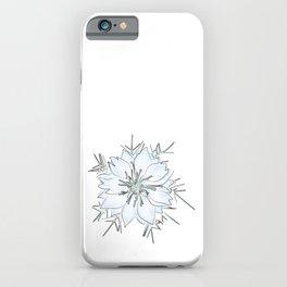 Nigella flower watercolor iPhone Case