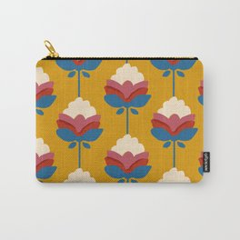 Vintage floral pattern- yellow background Carry-All Pouch