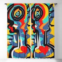Wild Heart Street Art Graffiti Primitive Blackout Curtain