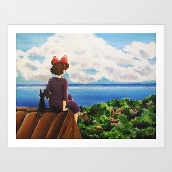 Kiki's dream Art Print