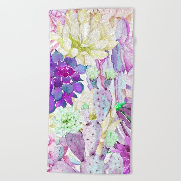 Lilac garden Beach Towel