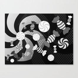 Black and White Sugar Crush Canvas Print