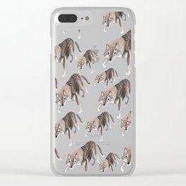 Wolves of the World: Russian Wolf (Canis lupus communis) (c) 2017 Clear iPhone Case