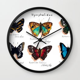 Nymphalidae butterflies Wall Clock