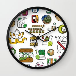 New Maya Language Wall Clock