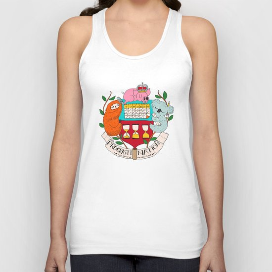 procrasti nation Unisex Tank Top