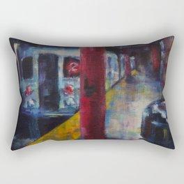 Underneath NYC: Hoyt Street on the 2/3 Line Rectangular Pillow