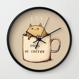 Mog of Coffee Wall Clock