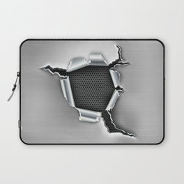 ripped a hole in metal Laptop Sleeve