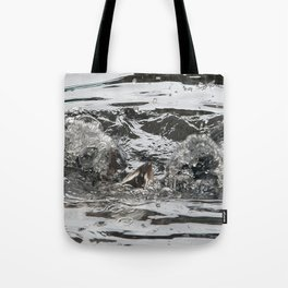 TEXTURES -- Troubled Waters Tote Bag