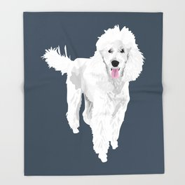 Jackson the Poodle Throw Blanket