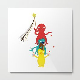 Octopus pole Metal Print