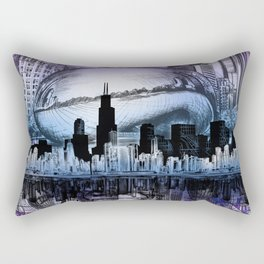 chicago city skyline Rectangular Pillow