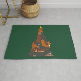 Christmas Tree Dachshund Rug