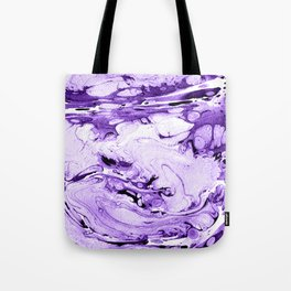 Violet Marbling drawing brush Tote Bag