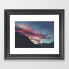 pink mountain Framed Art Print