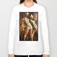 silent hill Long Sleeve T-shirts featuring Deadly Duo Silent Hill Nurses by Joe Misrasi