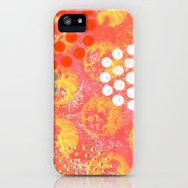 Orange Fizz iPhone Case