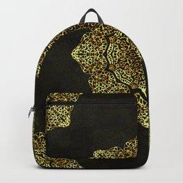 Golden Flower Mandala G346 Backpack