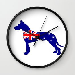 Australian Flag - Great Dane Wall Clock