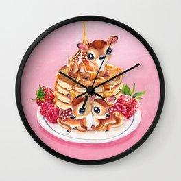 Three Pancake Deer Wall Clock