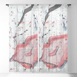 """Splatter"" Sheer Curtain"