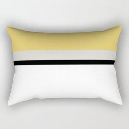 Minimal Abstract Yellow White Black 14 Rectangular Pillow