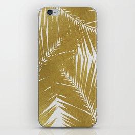Palm Leaf Gold III iPhone Skin