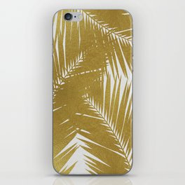Palm Leaf Gold III iPhone Skin