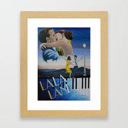 Vintage-Style La La Land Poster Framed Art Print