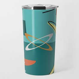 Turquoise Atomic Era Space Age Travel Mug