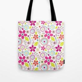Inky Floral Tote Bag