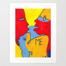 me to you / Color Art Print