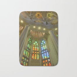 Stained Glass Sagrada Familia Bath Mat