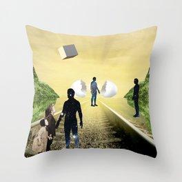 Warm Meeting  Throw Pillow