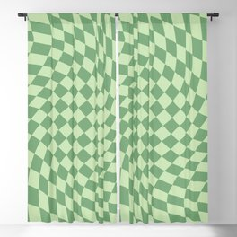 Forest Green Check Blackout Curtain