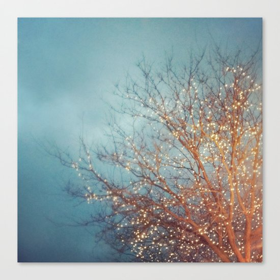 December Lights Canvas Print