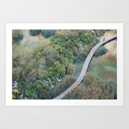 Plitvice National Park Boardwalk Croatia Art Print