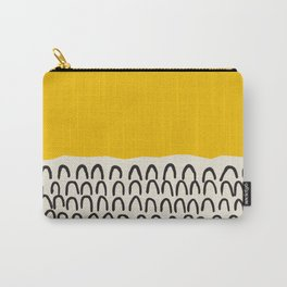 Sun Abstract Print, Shapes Mid Century Wall Art, Retro Minimal Art Minimalist Print Scandinavian Pos Carry-All Pouch