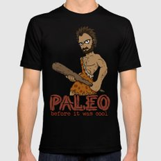 Paleo Before It Was Cool Crossfit Design by RonkyTonk MEDIUM Black Mens Fitted Tee
