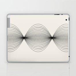 Geometric Orb Row - Black Laptop & iPad Skin