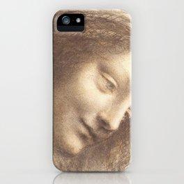 Face study - Leonardo Da Vinci iPhone Case